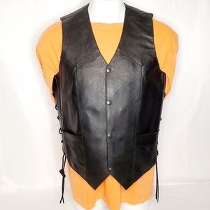 Event Leather EL5397 Men's Side Lace Biker Vest
